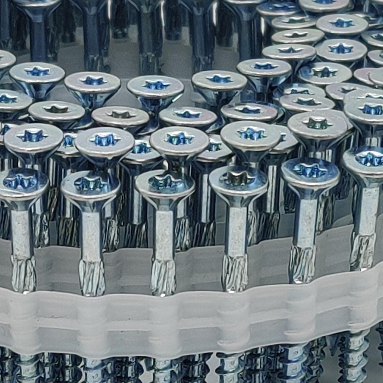 Coil adunox-SuperUni Holzschrauben / Spanplattenschrauben   hell verzinkt   ETA   5,0x80