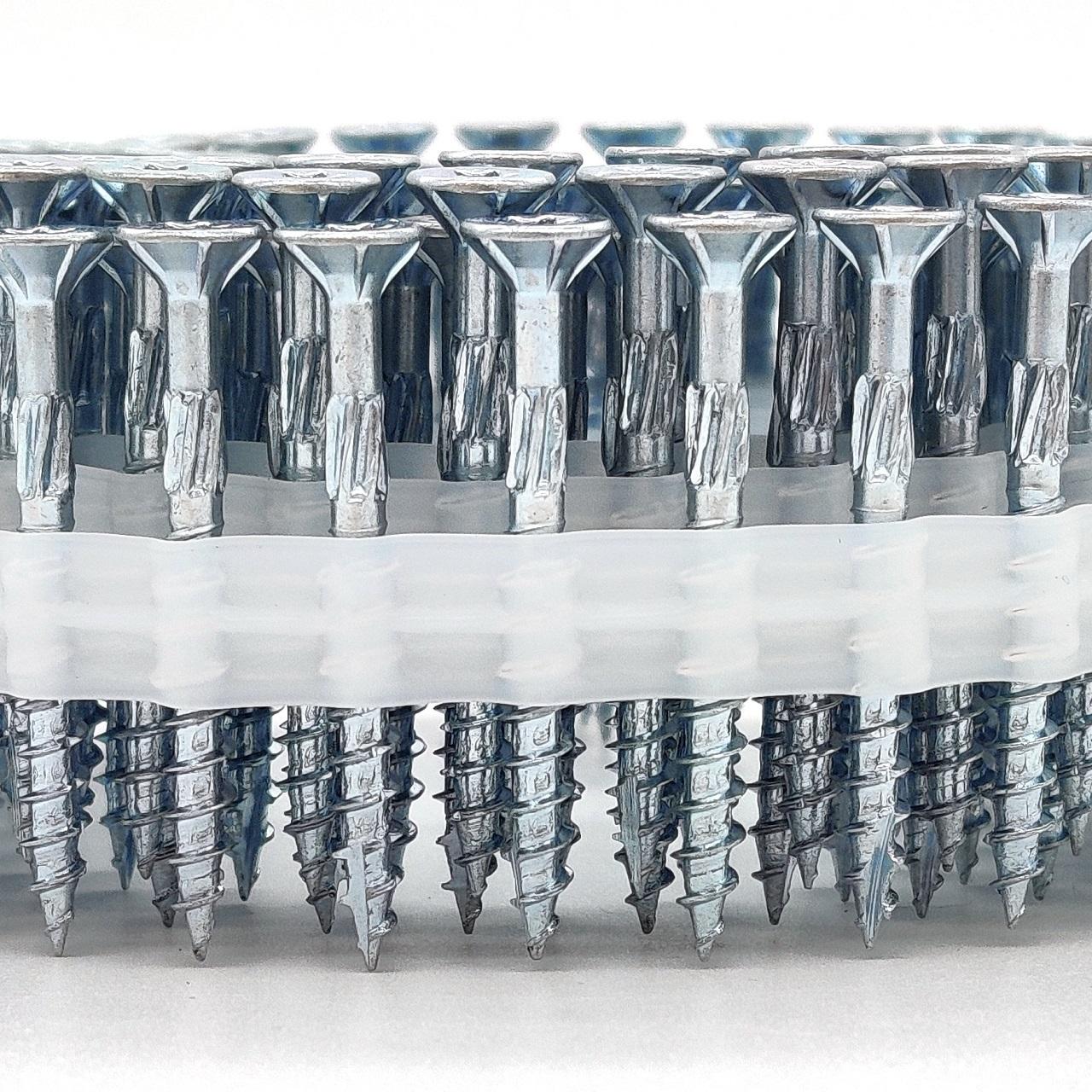 Coil adunox-SuperUni Holzschrauben / Spanplattenschrauben   hell verzinkt   4,0x30