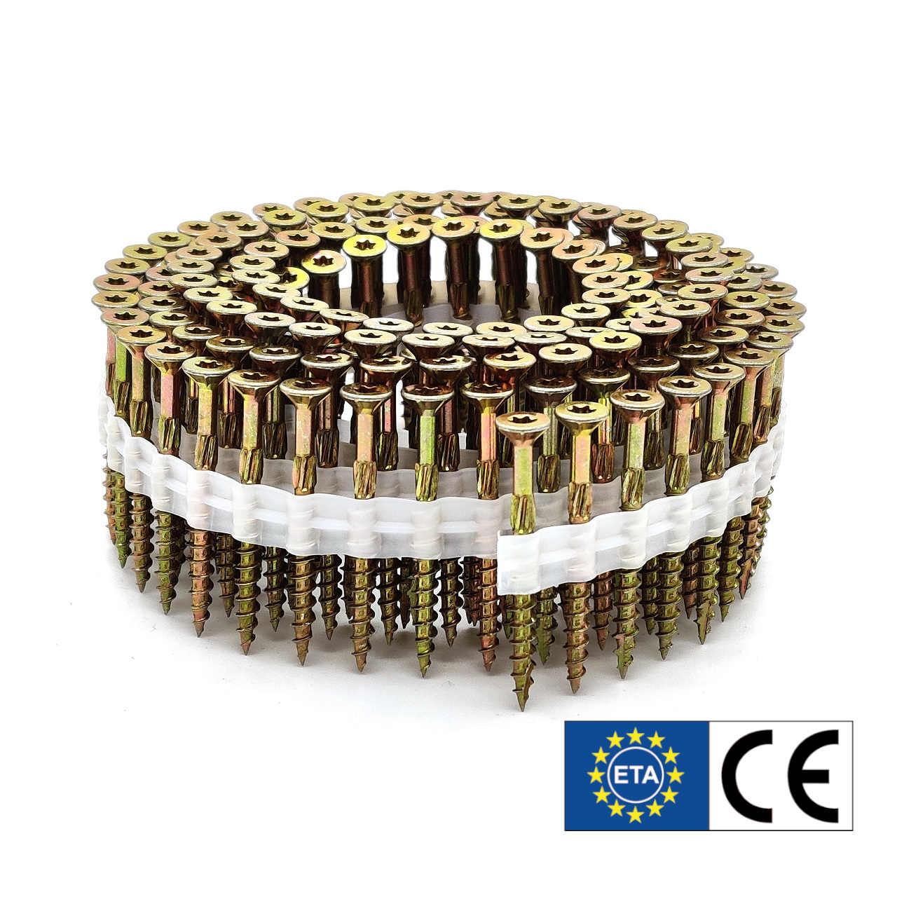 Coil adunox-SuperUni Holzschrauben / Spanplattenschrauben | gelb verzinkt | 5,0x50