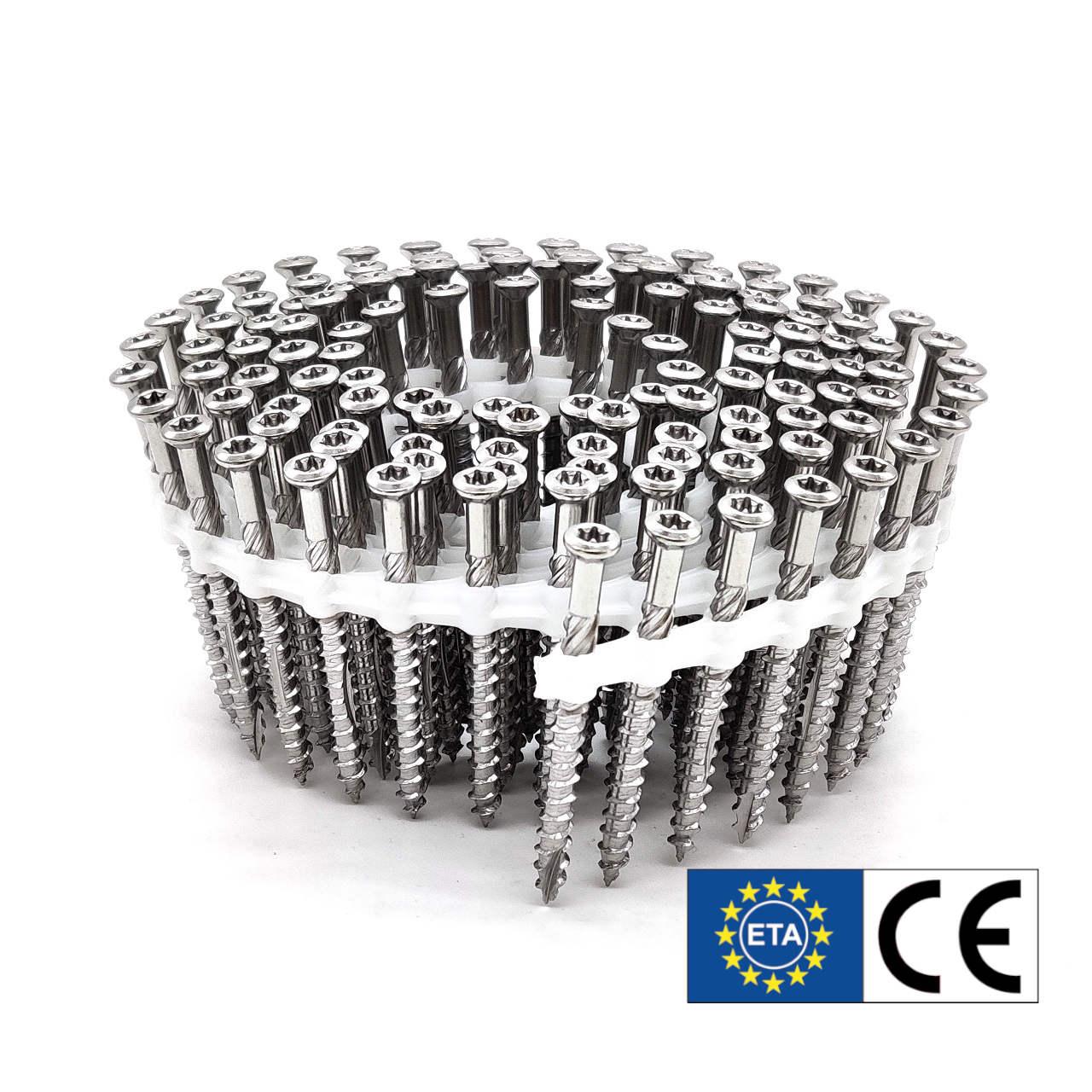 Coil Terrassenschrauben | rostfreier Stahl | Teilgewinde | 5,0x40