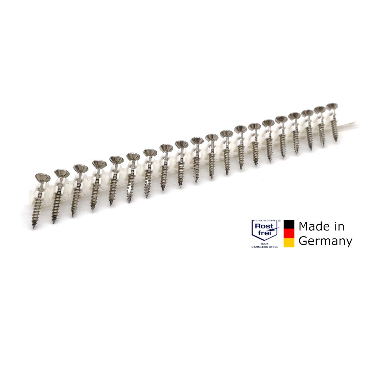 adunox-ONE-S Schieferschrauben | rostfrei A2 | 4,0x32