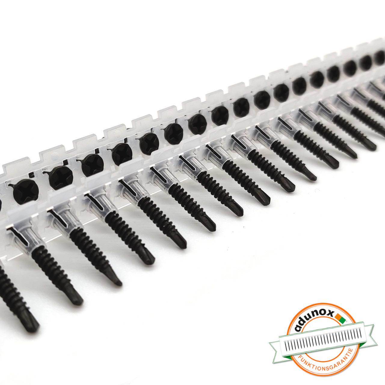Magazinierte Faserplattenschrauben | phosphatiert | Bohrspitze | 3,5x25
