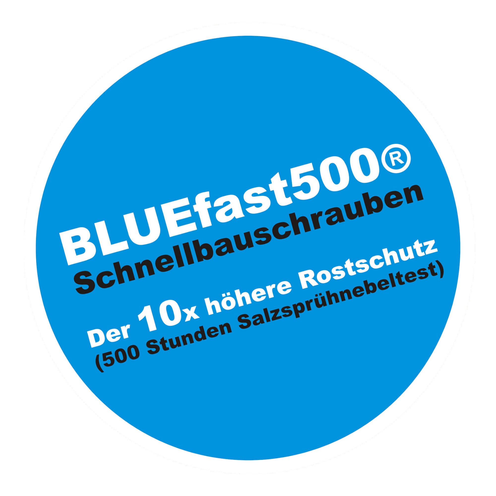 BLUEfast500® Faserplattenschrauben | Hi-Lo-Gewinde | 3,9x30 | 1.000 Stk